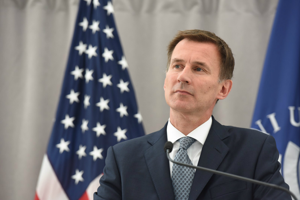 UK Foreign Secretary Jeremy Hunt