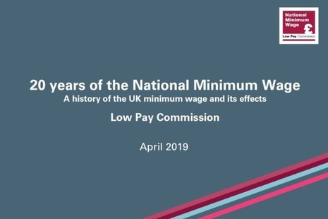 20 years of the national minimum wage. A history of the UK minimum wage and its effects. April 2019.