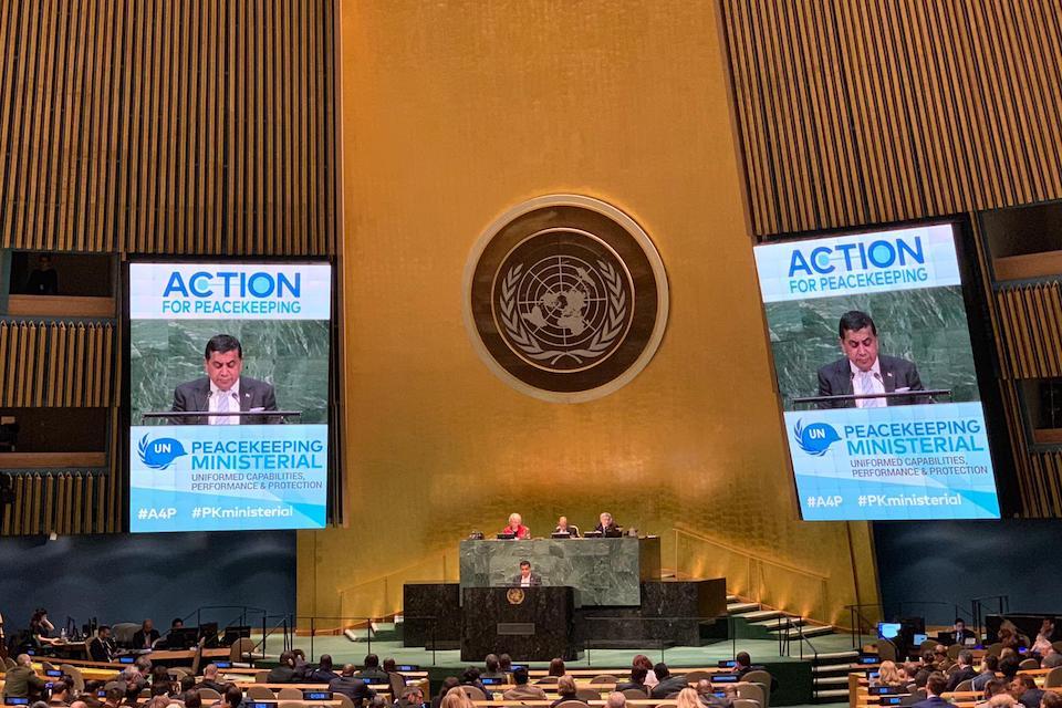 Lord Ahmad of Wimbledon at UN General Assembly