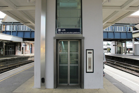 Lift at railway station