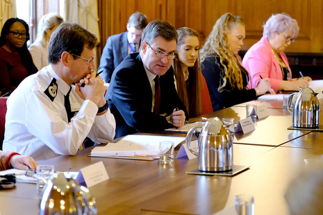 David Gauke at roundtable