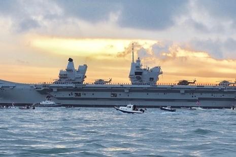QinetiQ supporting HMS Queen Elizabeth.