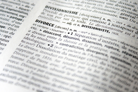 meaning of the word divorce in a dictionary