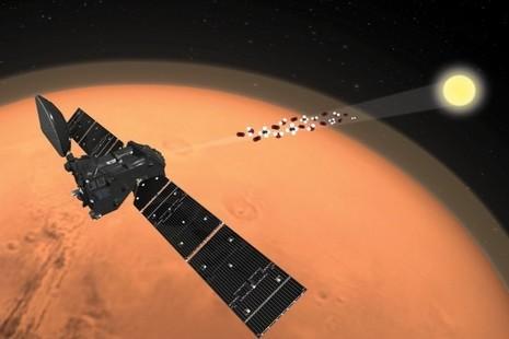Trace Gas Orbiter monitoring Mars