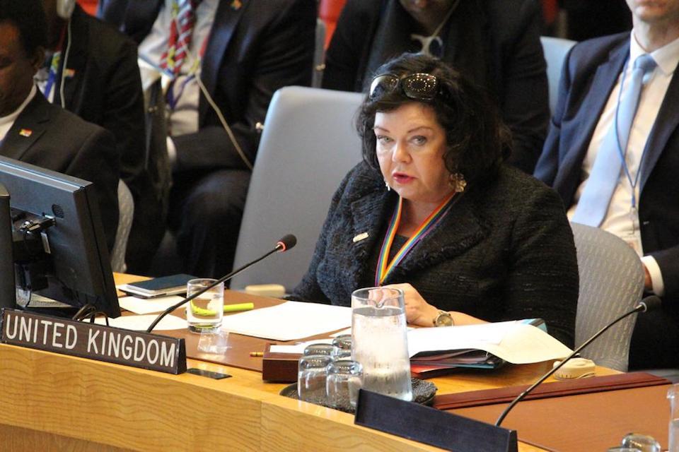 Ambassador Karen Pierce at the Security Council briefing on Venezuela