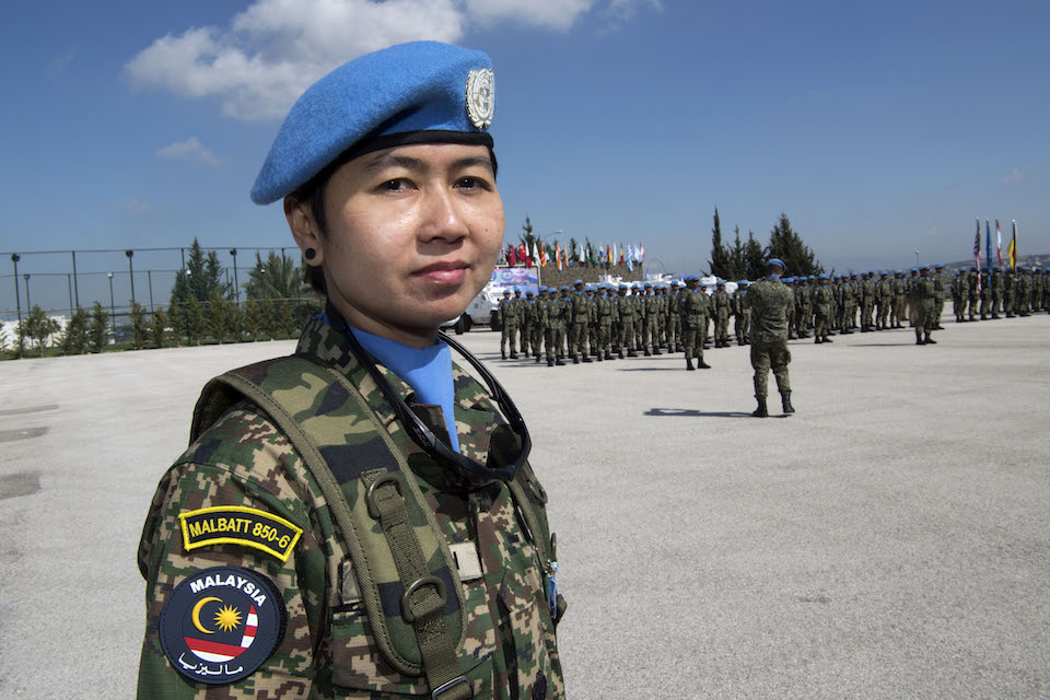 Peacekeeper after being awarded a medal (UN Photo)