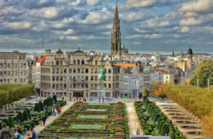 View on Brussels big market square