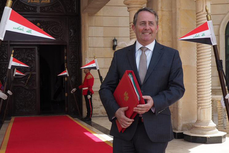 Liam Fox in Iraq