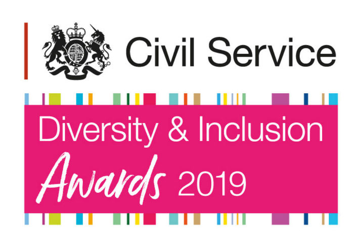 Logo of the 2019 Civil Service Diversity & Inclusion Awards