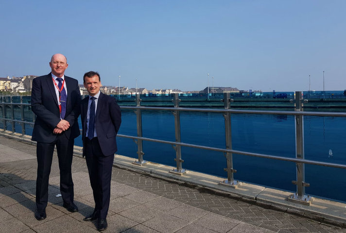 Welsh Secretary Alun Cairns meets Port Manager Captain Wyn Parry