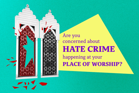 Are you concerned about hate crime happening at your place of worship?