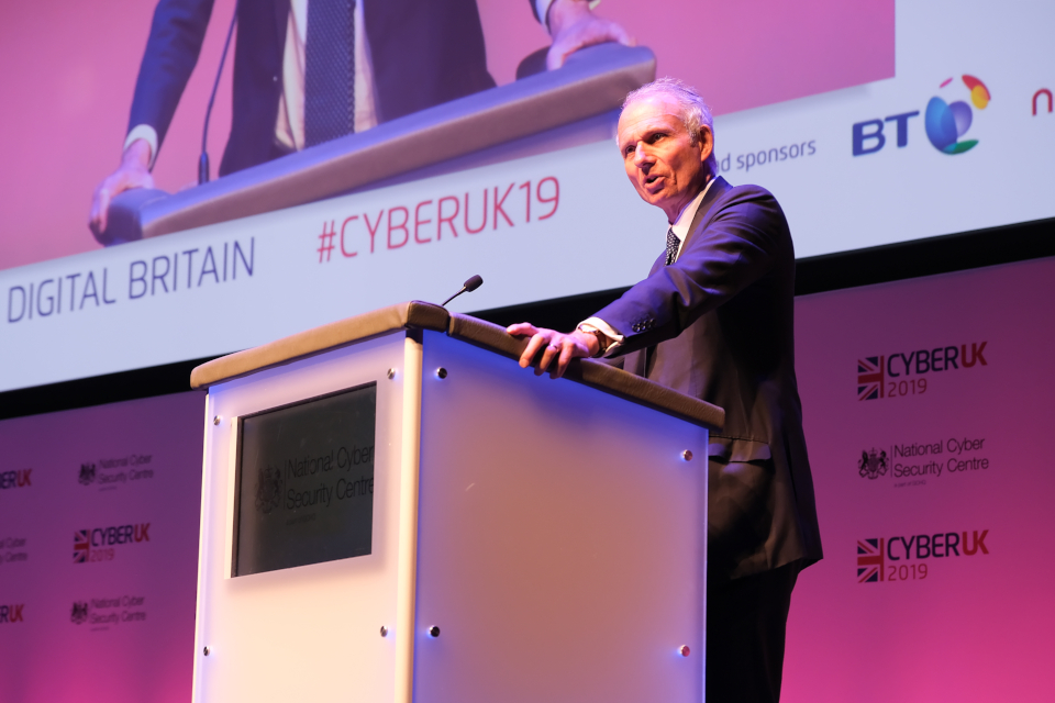 David Lidington speaking at CYBERUK 2019 conference, Glasgow.