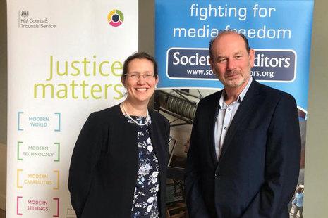 Image of Susan Acland-Hood and Ian Murray