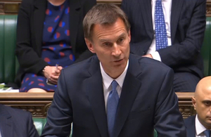 Jeremy Hunt speaking in the House of Commons about the Sri Lanka terror attacks