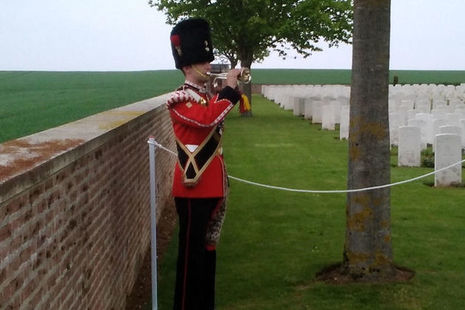 Royal Regiment of Fusiliers plays the Last Post, Crown Copyright, All rights reserved