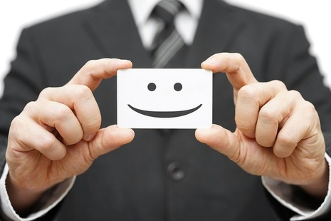 Card with Smiling Face