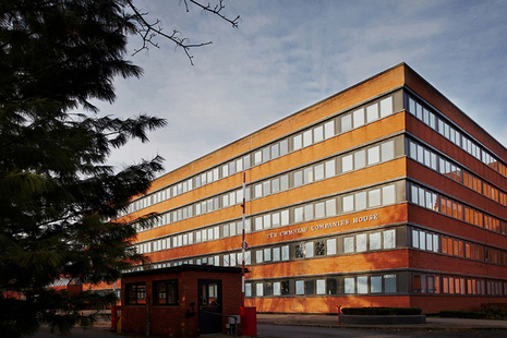 Photo of the Companies House office building.