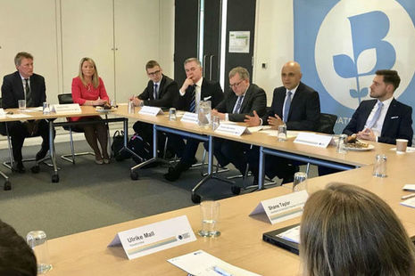 The Home Secretary meeting with Scottish businesses in Aberdeen