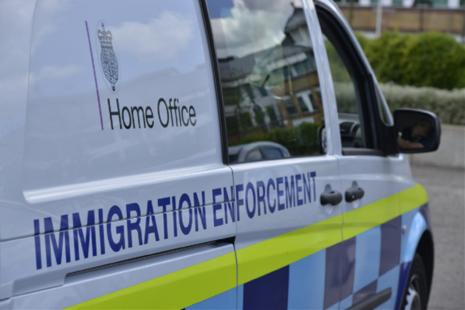 Immigration enforcement vehicle
