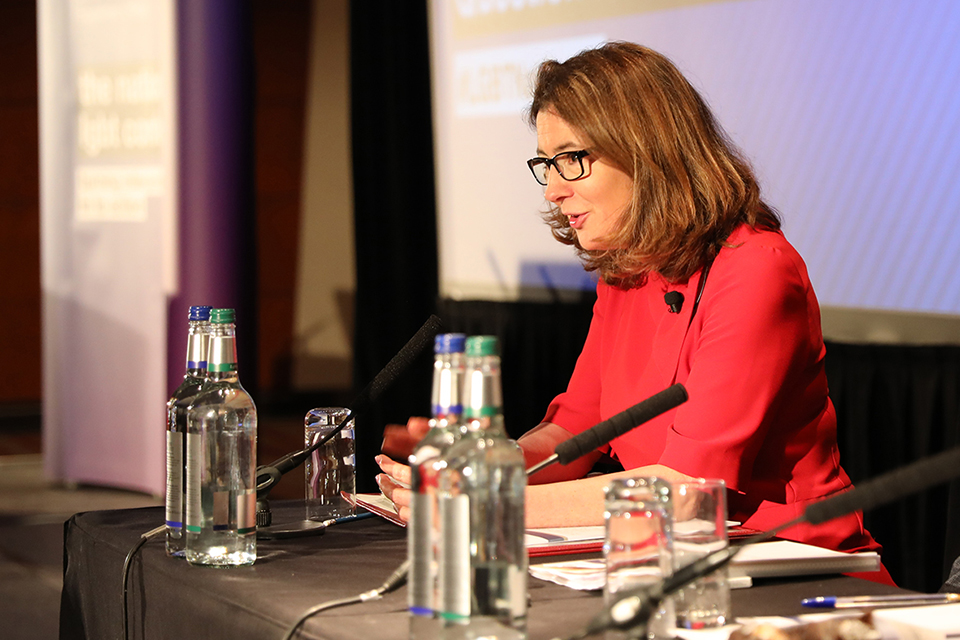 Minister for Equalities Baroness Williams at GEO LGBT Conference