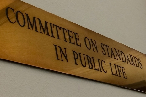 Committee on Standards in Public Life sign