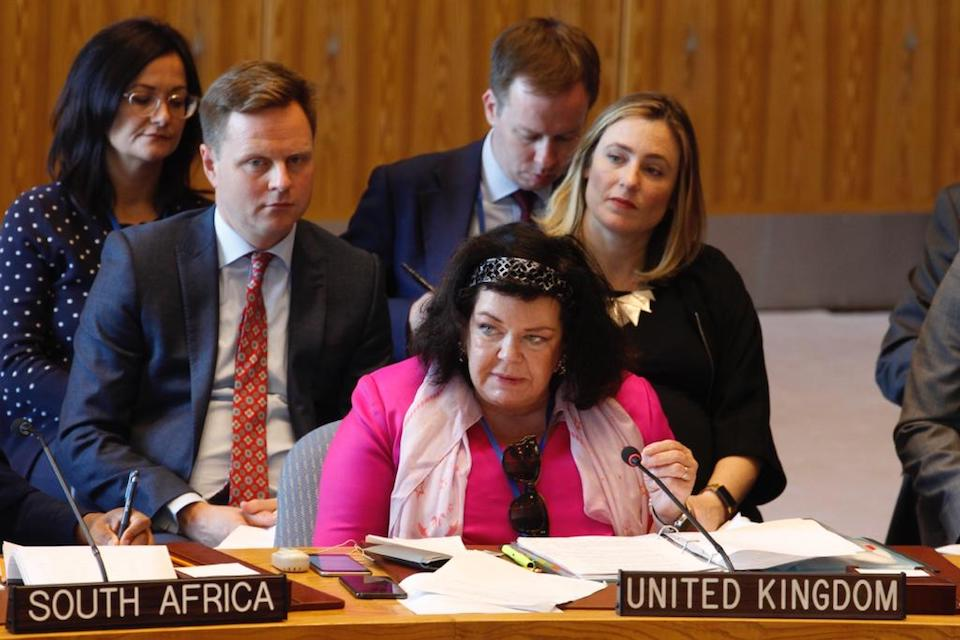 Ambassador Karen Pierce at the UN Security Council briefing on Yemen