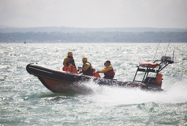 Picture of a lifeboat in action.