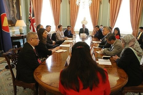 Jeremy Hunt and Mark Field meeting senior diplomats from ASEAN countries