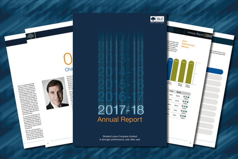 image of: student loans company annual report front cover