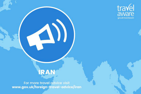 Iran travel advice has changed