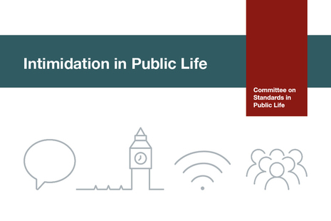 Intimidation in Public Life graphic
