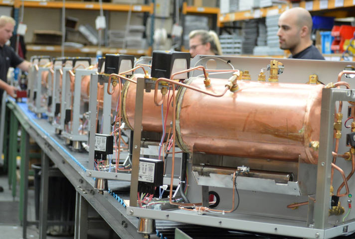 Coffee machine manufacturing process