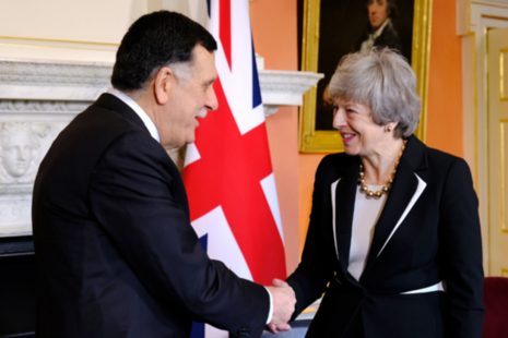 PM meeting with Libyan PM Serraj.