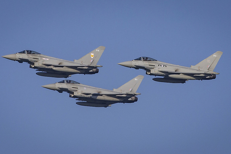Typhoon fighter jets