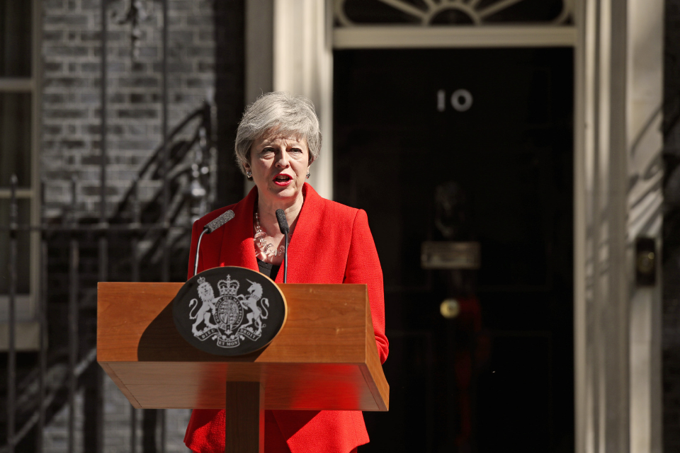 PM giving statement in Downing Street