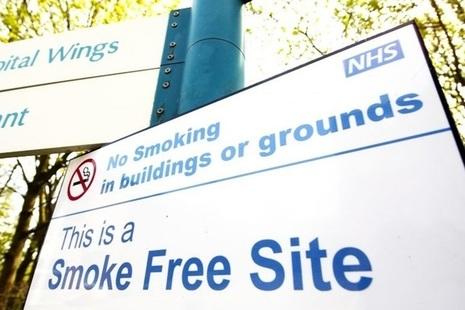 Smokefree NHS sign