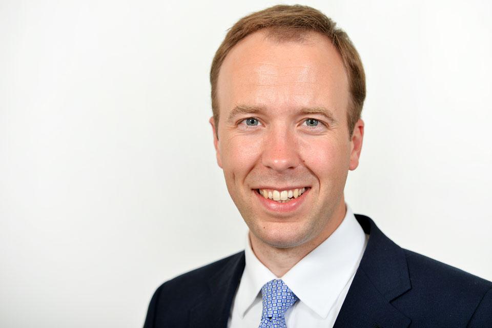 The Secretary of State for Health and Social Care, Matt Hancock