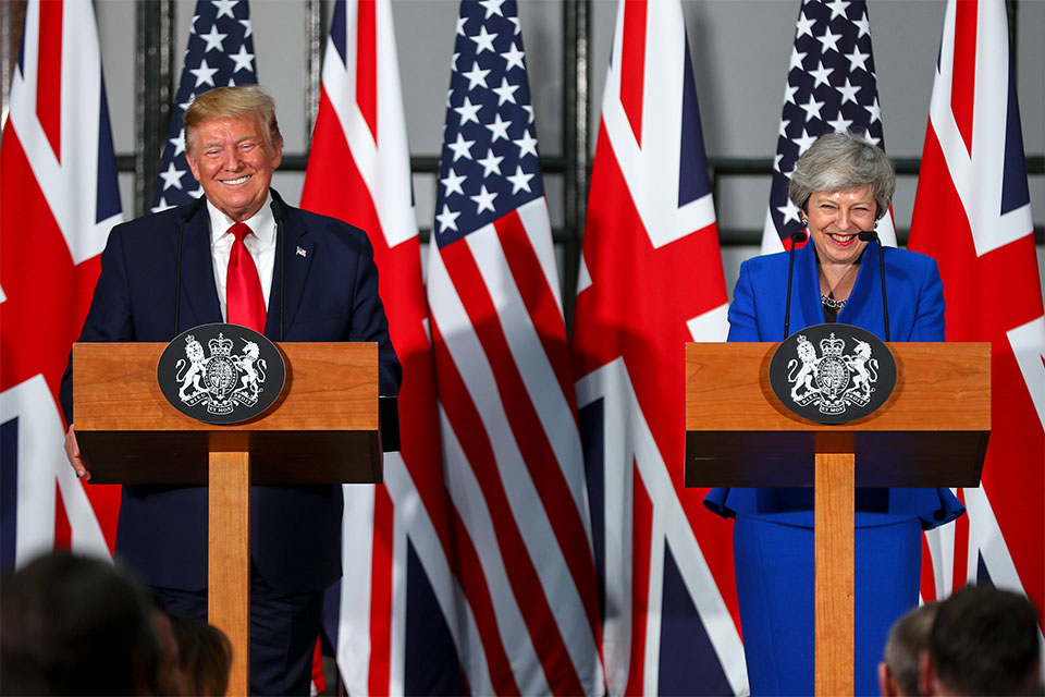 Press conference - Trump and PM