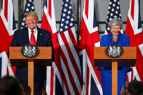 Press conference - Trump and PM