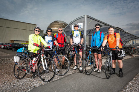 Employees from our cycling group at Sellafield Ltd.