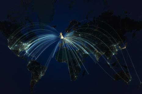 UK flight paths map