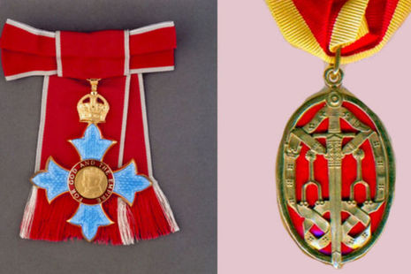 Two honours insignia - CBE and KBE