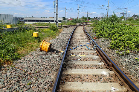 The derailment marks on the approach to Willesden High Level Junction (after track restoration)