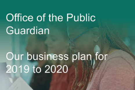 Cover image of OPG business plan 2019 to 2020