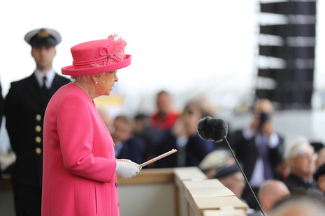Her Majesty the Queen at an international event
