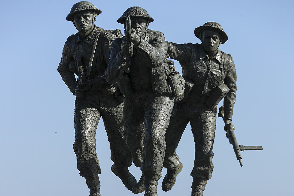 Photo of D-Day memorial in Normandy