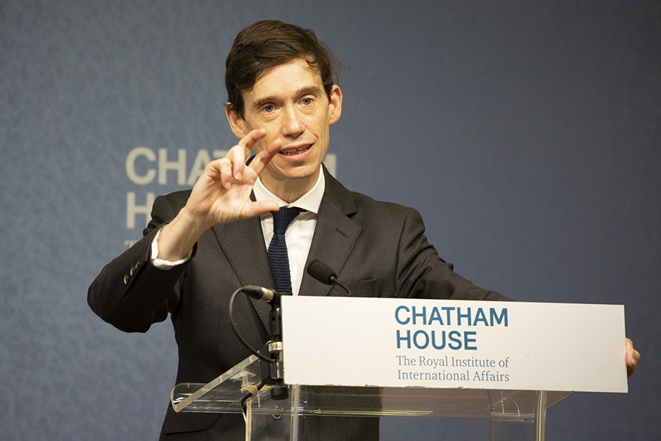 Rory Stewart speaking at Chatham House
