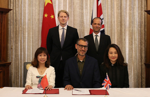Big wins for British businesses as Vice Premier Hu Chunhua visits