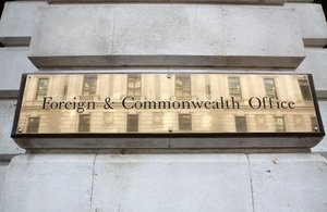 Foreign & Commonwealth Office sign