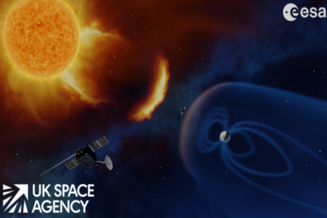 space weather satellites between the Earth and the Sun
